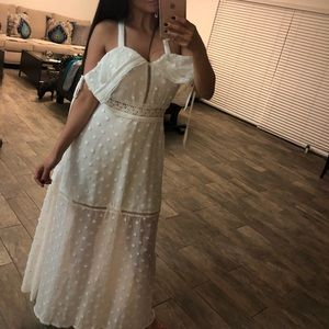 White Boho Style Dress from Lioness